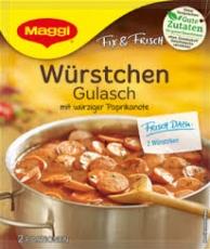 Maggi Fix Würstchen Gulasch, BBD 02/2018