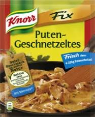 Knorr fix für Putengeschnetzeltes