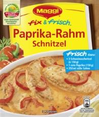 Maggi Fix - Paprika-Rahm Schnitzel
