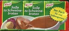 Knorr Soße zu Schweinebraten, 3er Pack