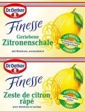 Dr. Oetker Finesse geriebene Zitronenschale, 2 uds