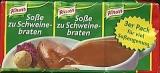 Knorr Soße zu Schweinebraten, 3 uds.