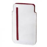 Hama basic, Leder, Weiß-rot, 12,5 x 7,7 cm